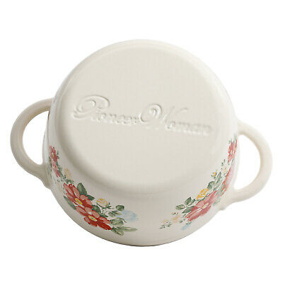 The Pioneer Woman Timeless Beauty Vintage Floral 3-Quart Enameled Cast Iron Cass