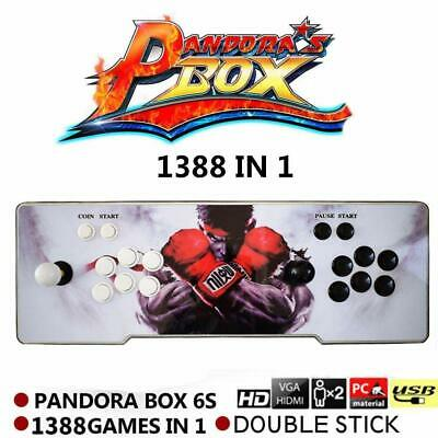 1388 in 1 Video Arcade Game Console Pandora Retro Box 6S Plug And Play LED LIGHT