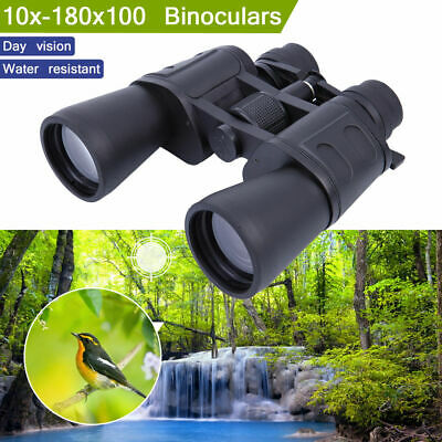 10-180x100 Zoom Telescope Day Night Vision Travel Binoculars Optics Hunt + Case