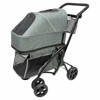 Hundebuggy Pet Buggy Deluxe Gr. 99 x 79 x 49cm Farbe grau ideal für kleine Hunde
