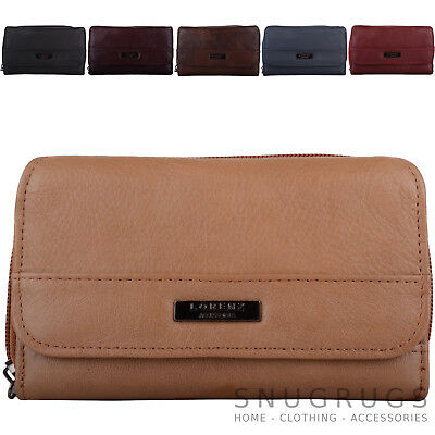 Ladies / Womens Leather Tri-Fold RFID Protected Money / Coin Holder / Purse