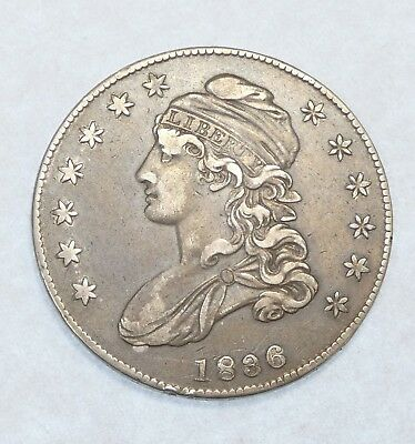 1836 Capped Bust/Lettered Edge Half Dollar EXTRA FINE Silver 50c