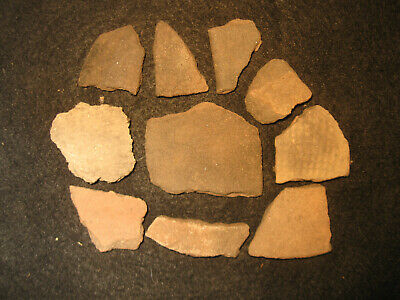 Prehistoric Fort Walton Florida Pottery Shards, Ancient Indian Artifacts, #2
