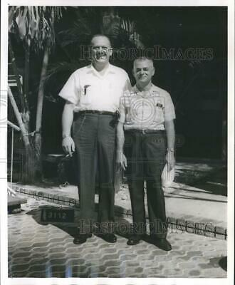 1965 Press Photo Edward E. Blancher and H.F. Cristadoro won trip to San Juan