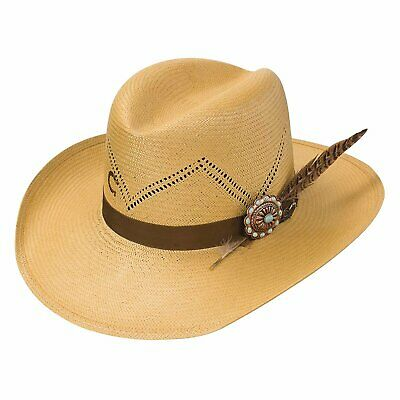 8a243d61c CHARLIE ONE HORSE Hustlin Straw Cowboy Hat Size Small