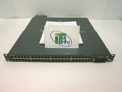 Aruba S3500-48P PoE 48 port switch S3500-4x10G card 1050-AC power w/ears NO CORD