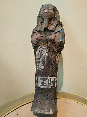 EGYPTIAN ANTIQUE STATUE ANCIENT Faience Ushabti Shabti