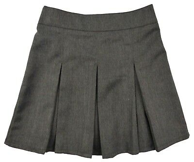 Girls Grey School Skirts Zip Up Adjustable Waist Various Styles Exstore 3-16yrs