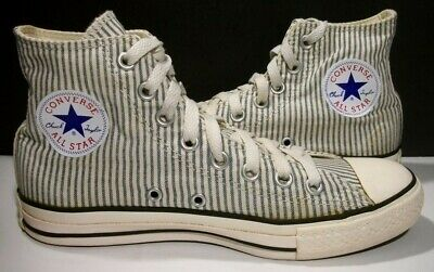 80158a68d1cb Converse Chuck Taylor All Stars Navy Stripe Canvas Hi Sneakers M6.5 W8.5