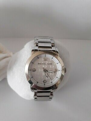 6f28f66e30bf Michael Kors Runway Mk-3157 Silver Dial Stainless Steel 34Mm Womens Watch