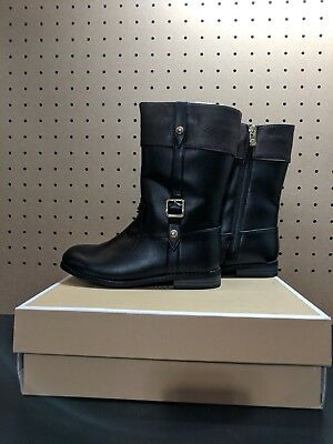 def79ab0f3c0 BRAND NEW MICHAEL KORS Girls Size 12 ATLANTIS Black Brown Tall Riding Boots
