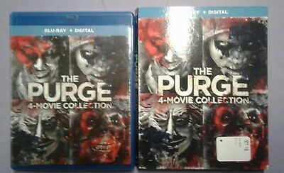 The Purge: 4-Movie Collection,2018 (Blu-Ray  4 Disc set includes slipcover