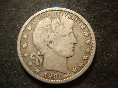1906-S  VG F Barber Liberty Half Dollar Very Nice Coin TVZ