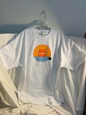 Hurley White T-Shirt Xxl Brand New With Tags