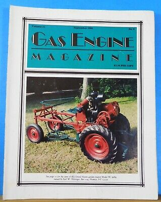 Gas Engine Magazine 1986 September A Miracle in the Wheat Field Case Serial Numb