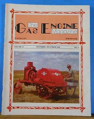 Gas Engine Magazine 1980 Nov Dec Cletrac Tractor Collection