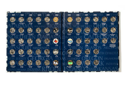 50 STATE  &  6 TERRITORY QUARTERS, Complete Set, album/folder,  UNCIRCULATED,  D