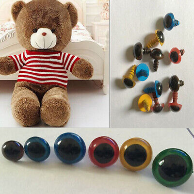 Charm 100 Pcs 8-20mm Plastic Safety Eyes for Teddy Bear Doll Animal Puppet DIY L