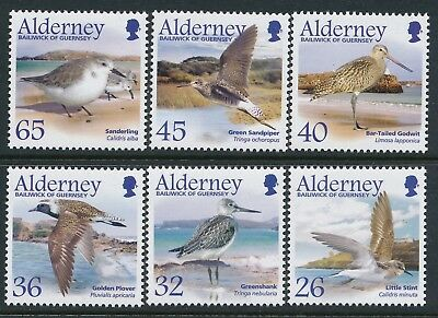 2005 Alderney Migrating Birds Part 4: Waders Set Of 6 Fine Mint Mnh/muh