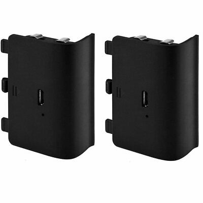 (2 pack) For XBox One Charge and Play Kit Rechargeable Battery & Charging Cable