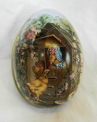 Egg Tin with Vintage Fairy Tale Decoration - Assorted Designs - Easter Gift  NEW