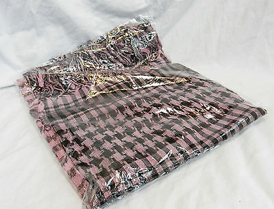 Deep Pink and Black 100/% Heavy Cotton Arab Arabic Style Scarf Large BNIB