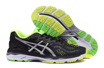 Free Transport! 2018 Asics Gel-Kayano 23 Mens Running Shoes (NO 24)Black-green