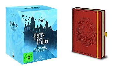 Harry Potter 1 2 3 4 5 6 7 8 Complete Collection + Taccuino DVD Regalo Box Set