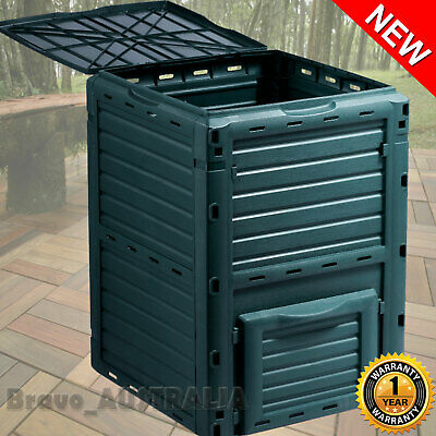 290L Compost Bin Food Waste Recycling Composter Kitchen Garden Composting