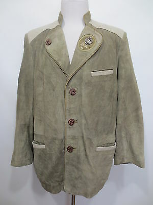 Traditional Costume Leather Jacket Cardigan Trachtensakko Natural Life 25 Ca 50
