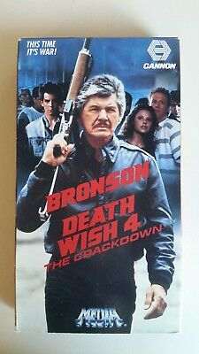 Death Wish 4 The Crackdown VHS Charles Bronson 1987 Cannon Action Thriller