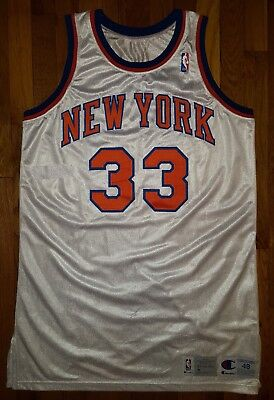 6ec665f03a4 1994-95 PATRICK EWING Game-Used New York Knicks Home Jersey with COA ...