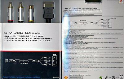 Sony Playstation 3 Official UK S VIDEO CABLE * NEW Boxed PS1 PS2 PS3 * S-Video