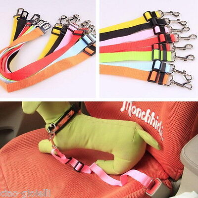 UK Adjustable Pet Dog Travel SEAT BELT Car Safety Harnesses Lead Restraint Strap