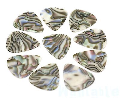 10 Abalone Style Celluloid Medium Guitar Picks Plectrums Acoustic Electric