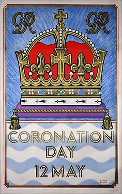 Rare London UndergroundCoronation of George VI poster, 1937 by Harold Stabler