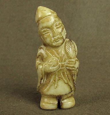 Stunning Old Chinese Carved Jade Figure
