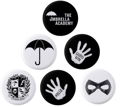 THE UMBRELLA ACADEMY - Button Pin Badge  - HELLO GOODBYE  BRAND NEW! Ships Fast!