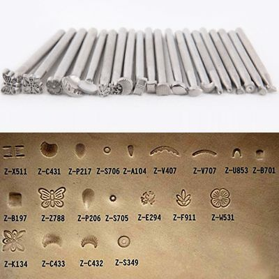 20PCS DIY Leather Carving Craft Stamping Tool Set Saddle Leather Wood Punching