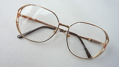 Ladies Large Metal Glasses Vintage 80's New Golden Pink XL Blogger SIZE M
