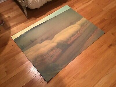 Russell Chatham Original Lithograph Boulder Valley In Fall Last One Signed #'d