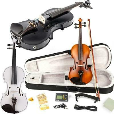 Glarry 4/4 Full Size Acoustic Basswood EQ Violin Set w/ Bow Rosin Case High Qual