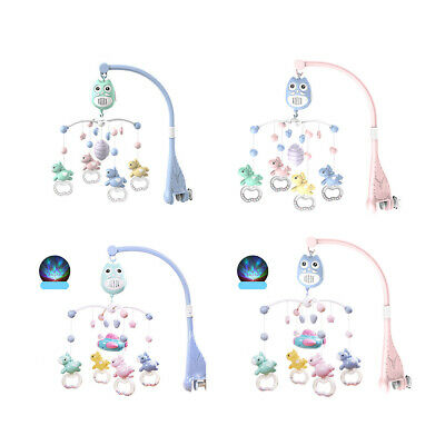 Musical Crib Mobile Baby Toys 0-12 Month Bed Bell Rattle Night Light Newborn New