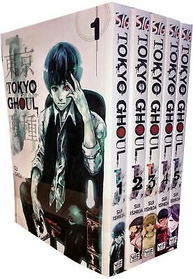 Tokyo Ghoul Volume 1-5 Collection 5 Books Set Pack Children Manga Paperback New