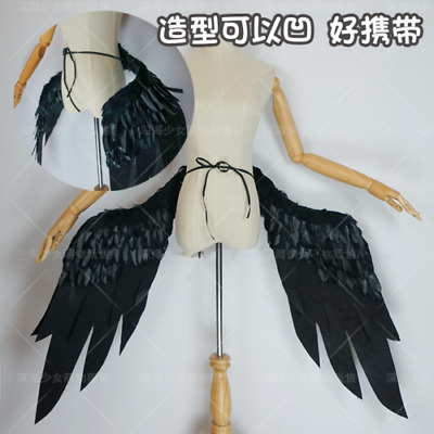 Anime Overlord Albedo Wing Cosplay Black Wings Cos Prop Moldable Costume