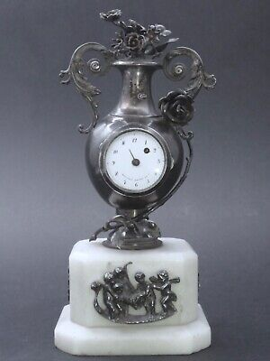 Moulinié Bautte & Cie 1804-1837  Sterling silver miniature Watch clock
