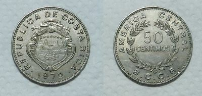 COSTA RICA 50 CENTIMOS 1972 - EF - Great Obverse Detail