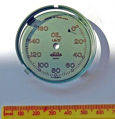 Genuine British Jaeger MG TC (TD?) oil gauge dial. New/old stock
