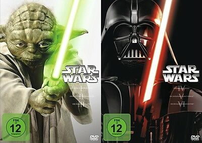 Guerra Delle Stelle Star Wars 1 2 3 4 5 6 Complete Collection 6 DVD Box
