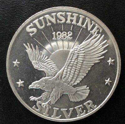 1982 Sunshine Mining Eagle Silver Medal A3607